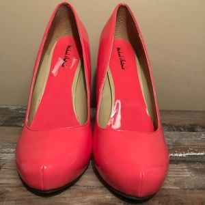 Coral Patent Leather Pumps
